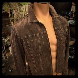 Live A Little Brown Suede Vintage Jacket
